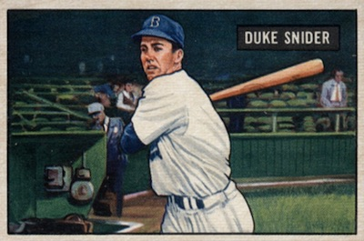 1951 Bowman Baseball Duke Snider