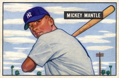 1951 Bowman Baseball Mickey Mantle RC