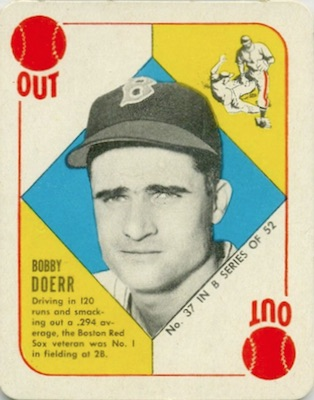1951 Topps Blue Backs Baseball Doerr