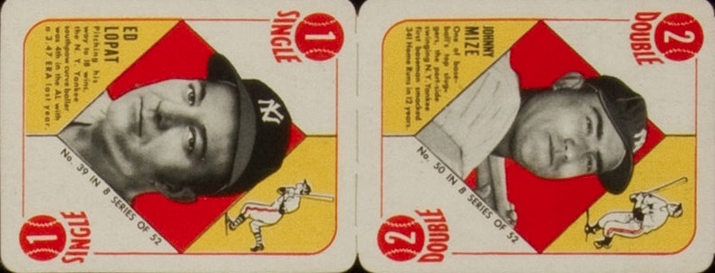 1951 Topps Blue Backs Baseball Mize panel