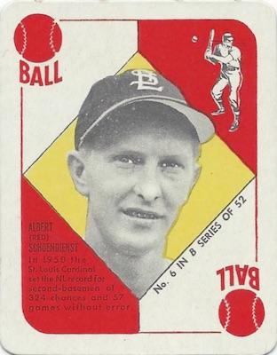 1951 Topps Blue Backs Baseball Schoendienst