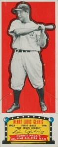 1951 Topps Connie Mack's All-Stars Baseball Lou Gehrig