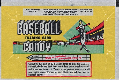 1951 Topps Connie Mack's All-Stars Baseball wrapper pack