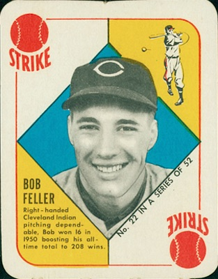 1951 Topps Red Backs Baseball Bob Feller