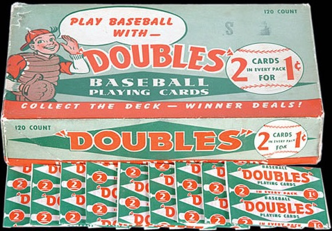 1951 Topps Red Backs Baseball Doubles Box Packs