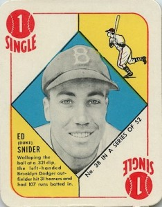 1951 Topps Red Backs Baseball Duke Snider