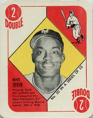 1951 Topps Red Backs Baseball Monte Irvin