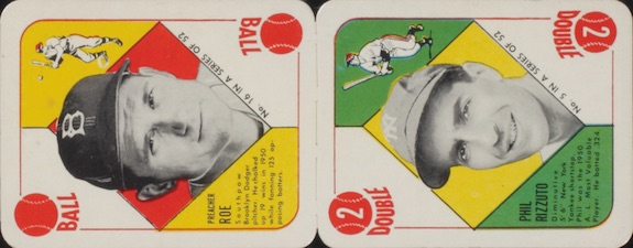 1951 Topps Red Backs Baseball Panel