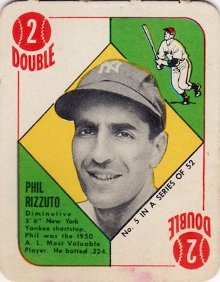 1951 Topps Red Backs Baseball Phil Rizzuto