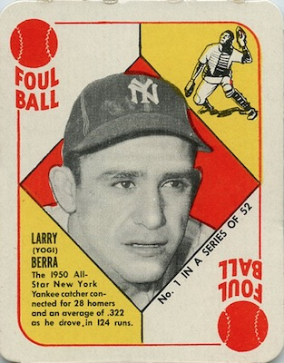 1951 Topps Red Backs Baseball Yogi Berra