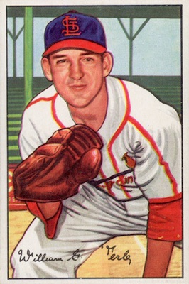 1952 Bowman Baseball Bill Werle Error Variation