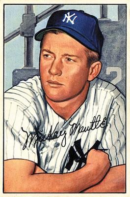 1952 Bowman Baseball Mickey Mantle