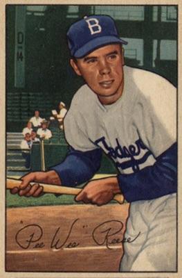 1952 Bowman Baseball Pee Wee Reese