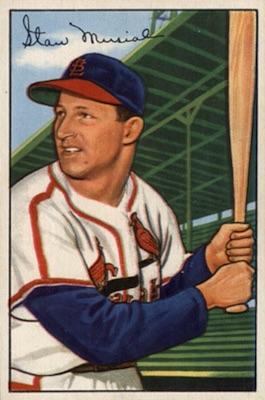 1952 Bowman Baseball Stan Musial