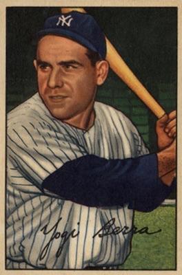1952 Bowman Baseball Yogi Berra