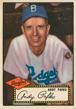 1952 Topps Baseball Andy Pafko