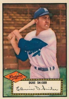 1952 Topps Baseball Duke Snider
