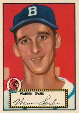 1952 Topps Baseball Warren Spahn