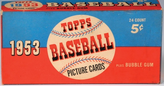 1953 Topps Baseball Display Box