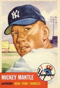 1953 Topps Baseball Mickey Mantle