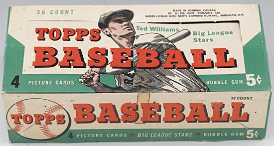 1954 Topps Baseball Display Box Canada