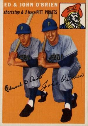 1954 Topps Baseball Ed John O'Brien
