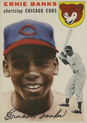1954 Topps Baseball Ernie Banks RC