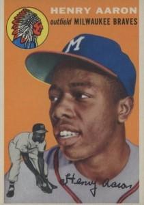 1954 Topps Baseball Hank Aaron