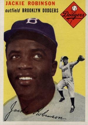 1954 Topps Baseball Jackie Robinson