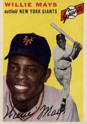 1954 Topps Baseball Willie Mays