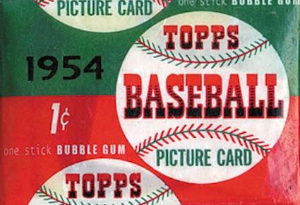 1954 Topps Baseball pack wrapper