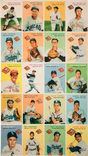 1954 Wilson Franks Baseball Cards 3
