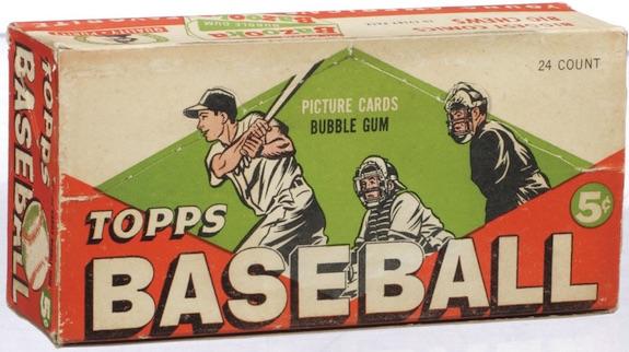 1955 Topps Baseball Display Box