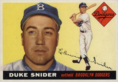 1955 Topps Baseball Duke Snider