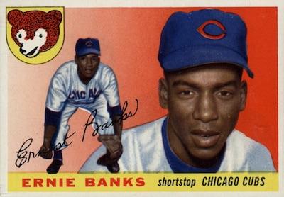 1955 Topps Baseball Ernie Banks