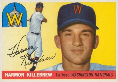 1955 Topps Baseball Harmon Killebrew