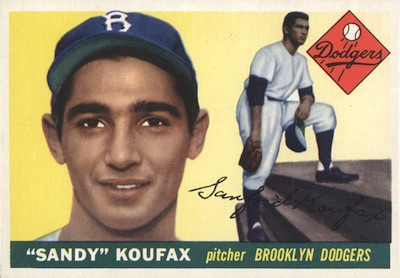 1955 Topps Baseball Sandy Koufax