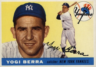 1955 Topps Baseball Yogi Berra