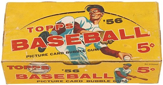 1956 Topps Baseball Display Box