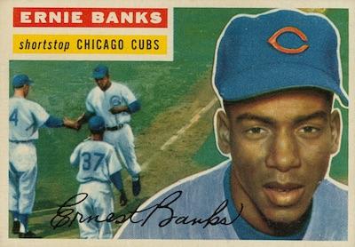 1956 Topps Baseball Ernie Banks