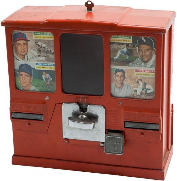 1956 Topps Baseball Gumball Vending