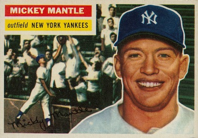 1956 Topps Baseball Mickey Mantle