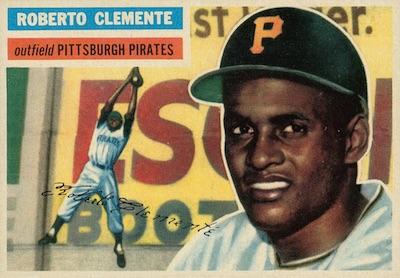 1956 Topps Baseball Roberto Clemente