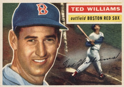 1956 Topps Baseball Ted Williams