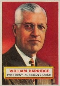 1956 Topps Baseball William Harridge