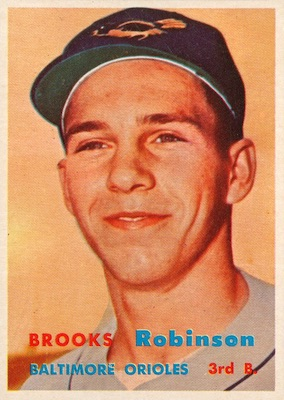 1957 Topps Baseball Brooks Robinson RC