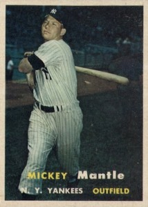 1957 Topps Baseball Mickey Mantle