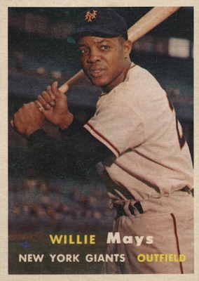 1957 Topps Baseball Willie Mays