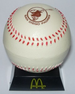 1974 McDonald's San Diego Padres Holder
