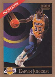 1990-91 SkyBox Basketball Prototype Magic Johnson